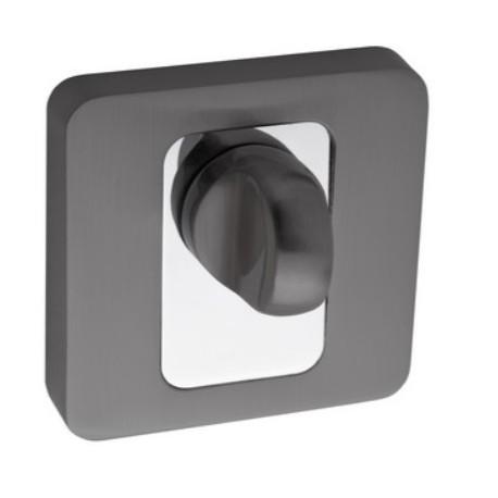 Blokada WC kwadrat LK4 503A grafit-chrom KUCHINOX