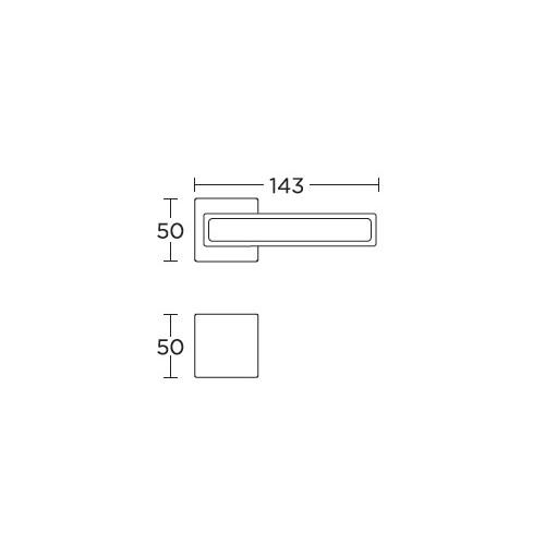 Klamka 2185 czarny/nikiel satyna CONVEX