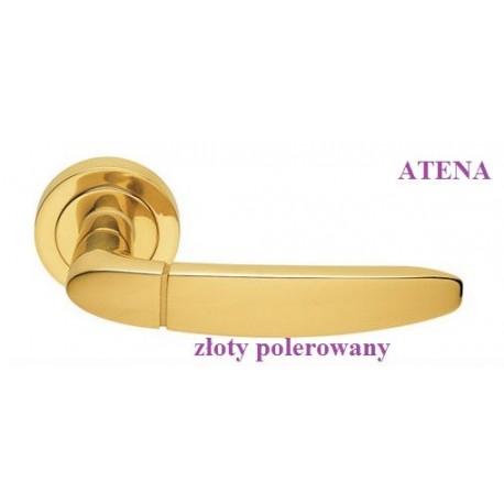 Klamka ATENA Manital szyld okrągły złoty polerowany