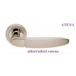Klamka ATENA Manital szyld okrągły nikiel-nikiel satyna