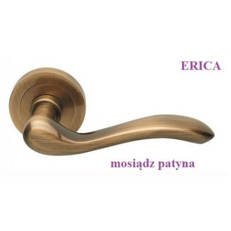 Klamka ERICA Manital szyld okrągły mosiądz patyna