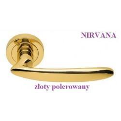 Klamka NIRVANA Manital szyld okrągły złoty polerowany