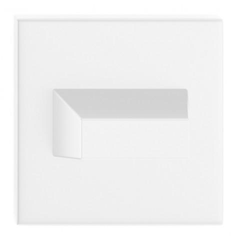 Blokada WC kwadrat SLIM biała