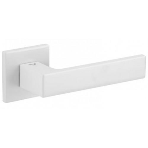 Klamka WARNA fit biała rozeta kwadrat VDS