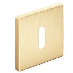 Rozeta kwadrat SLIM na klucz złoty mat