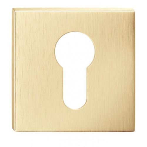 Rozeta kwadrat SLIM na wkładkę złoty mat