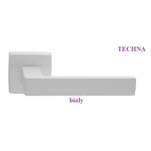 Klamka TECHNA Manital szyld kwadratowy biały